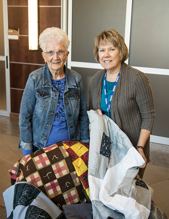 Dorothy Pearson delivers quilts