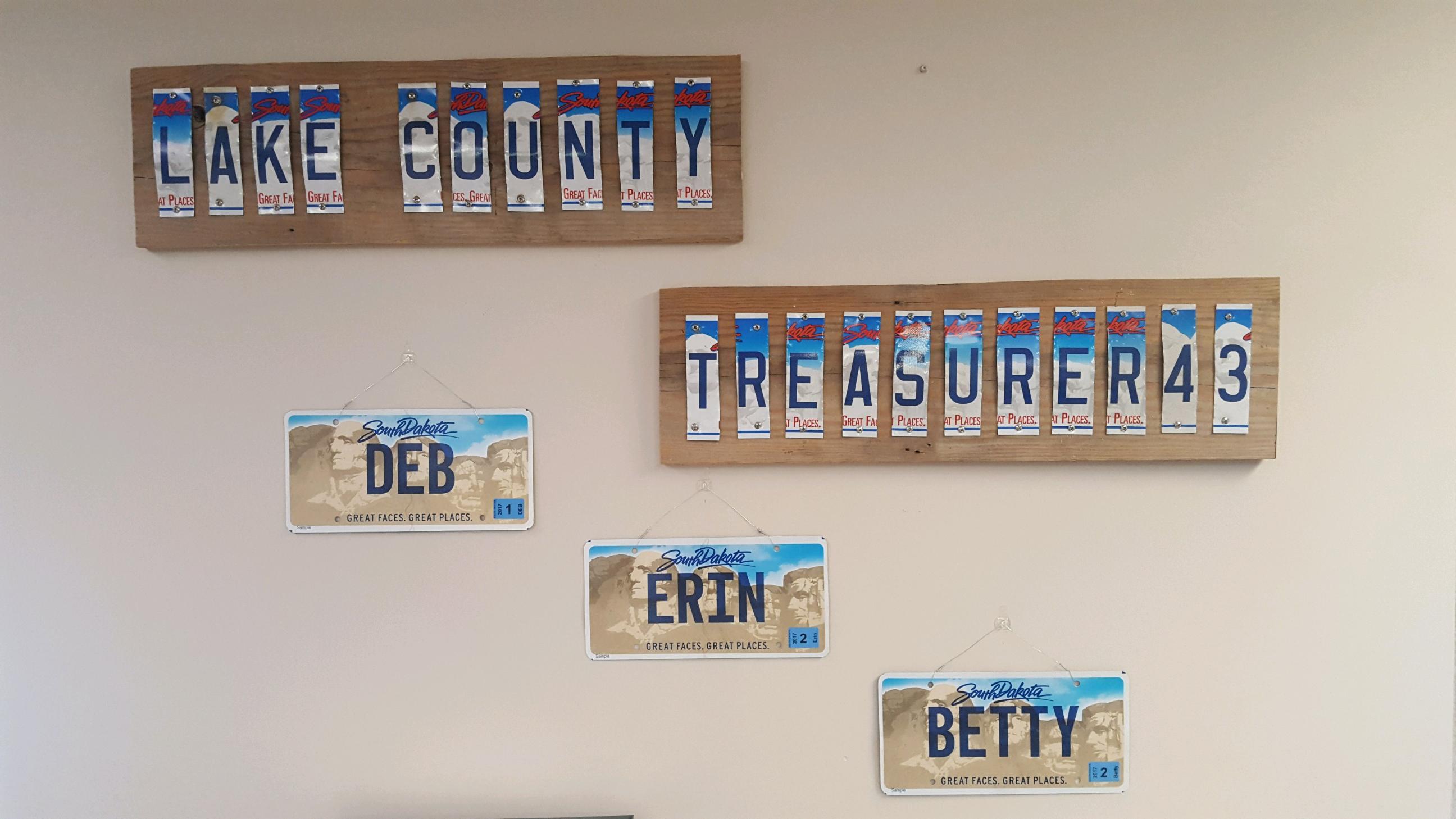 Treasurer Wall Art